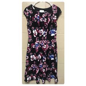 A-line floral print dress